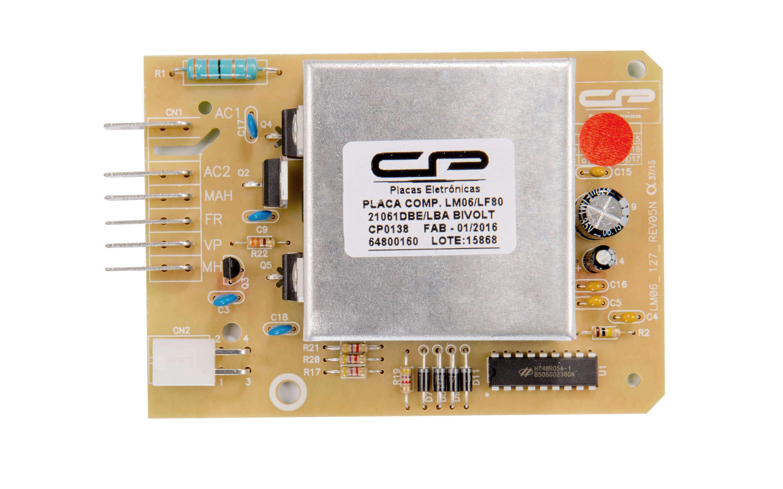 CP 0138 - Placa compatível lavadora LM06/ LF80 bivolt