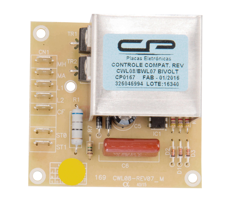 CP 0167 - Controle reversão compatível lavadora CWL08A/B/C CWL10A/ BWL07A/ BWL09A bivolt