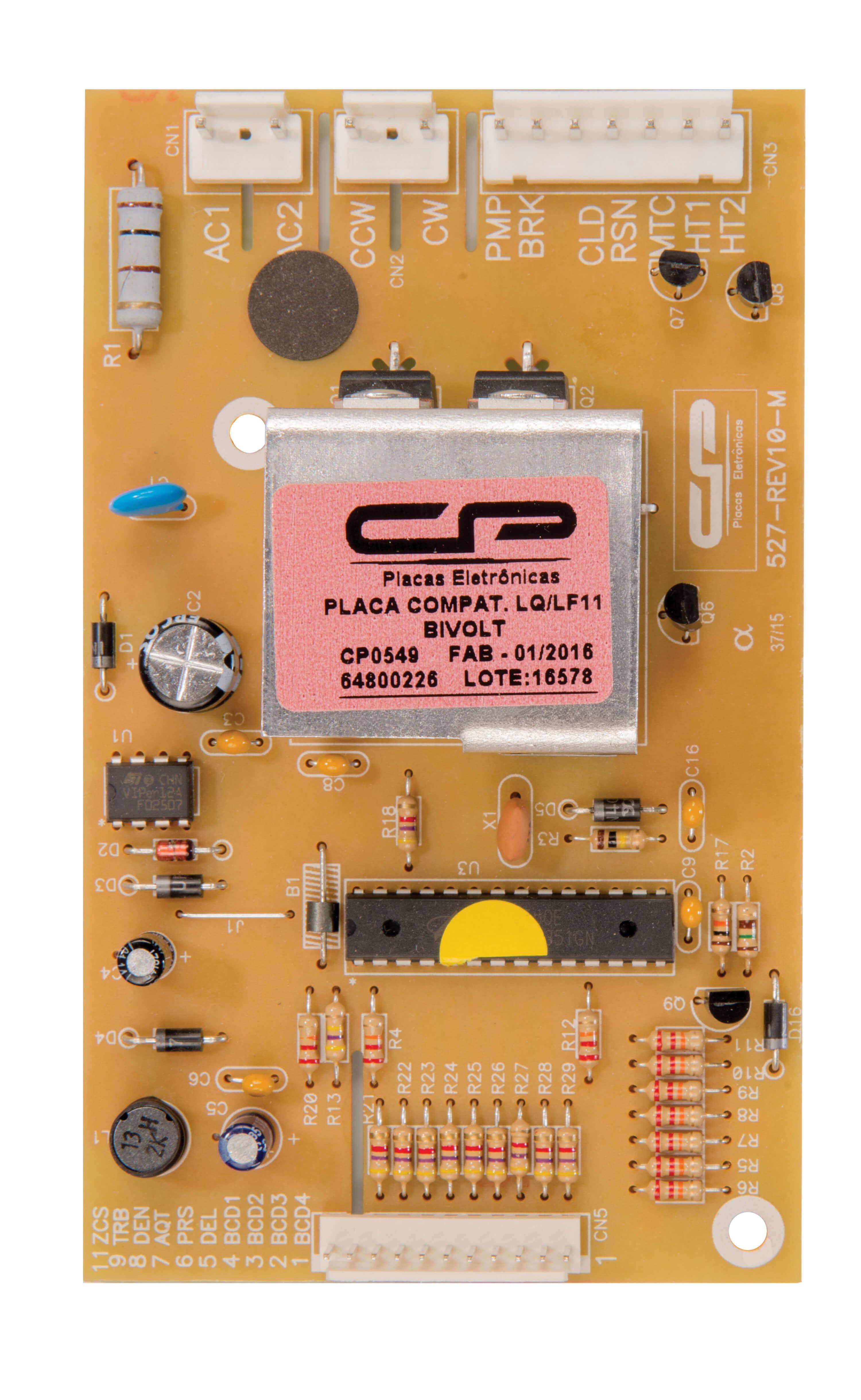 CP 0549 - Placa compatível lavadora LQ/ LF11 bivolt