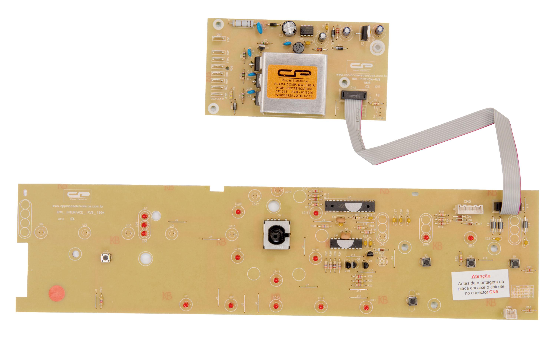 CP 1043 - Placa compatível lavadora BWL09B c/potência bivolt  interface W10308925