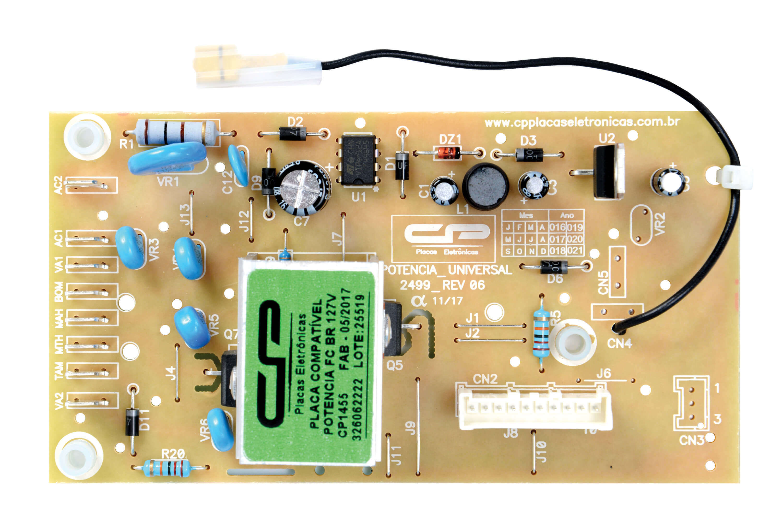 CP 1455 - Placa compatível potência FC BR 127V CWL75A / CWL10B / BWL11A / BWL11AR